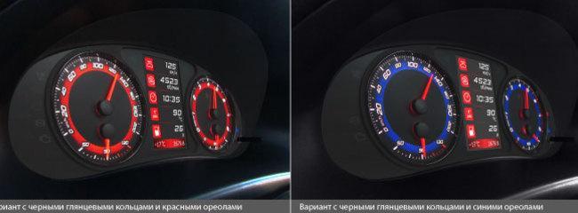 Панель приборов Gamma GF 822S (Kalina, Priora, 2110 c новой панелью) Применяемость: Lada Kalina, Lada Priora, Lada 2110 c новой панелью Панель приборов Gamma GF 822S предназначена для автомобилей Lada Kalina, Lada Priora и Lada 2110 c новой панелью. Это обновленный дизайн комбинации приборов GF822, в который добавили сочетание матового и глянцевого, светящиеся тахометр и спидометр и накладку с кольцами. Удивительный тандем стиля и технологий позволят вам контролировать работу автомобиля и следить за маршрутными показателями, а также подчеркнут спортивный дух салона. Gamma GF 822S включает панель приборов и бортовой компьютер, имеет 4-дюймовый цветной TFT-дисплей и современный ARM-процессор. Вы можете самостоятельно выбирать цветовое исполнение, яркость и контрастность панели, что поможет вам чувствовать себя комфортнее. Диагностическая информация в бортовом компьютере Gamma GF 822S Бортовой компьютер, интегрированный в панель приборов, считывает ошибки и мгновенные параметры с электронной системы управления двигателем (ЭСУД). Вы будете видеть ошибки с расшифровкой, сбрасывать их, просматривать показатели температуры двигателя, расхода воздуха, угла опережения зажигания, положения дроссельной заслонки, напряжения бортовой сети, положения педали газа, положения регулятора холостого хода. Диагностика сервисных и дополнительных систем включает считывание параметров и сброс ошибок ABS, подушки безопасности, усилителя руля, климат контроля, электропакета. К вашему сведению на экран будут выдаваться аварийные предупреждения о превышении порогов оборотов двигателя, температуры охлаждающей жидкости, скорости, о движении с непристегнутым ремнем, выключенными фарами или поднятым ручником, о низком уровне тормозной жидкости, о недостаточном давлении масла и отсутствии заряда аккумулятора. Для вашего удобства вы можете самостоятельно задать пороги допустимого напряжения, оборотов, скорости, shiftlight, температуры охлаждающей жидкости. Маршрутные параметры в панели приборов Gamm