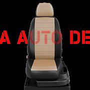 Модельные чехлы эко кожа KIA RIO III седан (2011-2016) черные-бежевые
