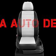 Модельные чехлы эко кожа KIA RIO III седан (2011-2016) черные-белые