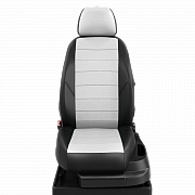 Модельные чехлы эко кожа KIA RIO IV седан/хетчбек (2017-) черные-белые