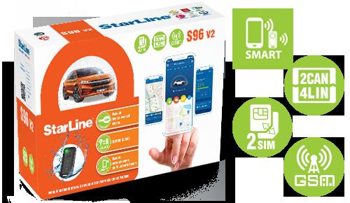 Автосигнализация STARLINE S 96 v2 ВТ 2CAN+4LIN 2SIM GSM-GPS