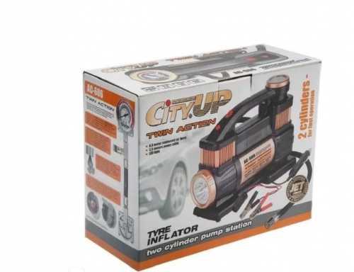 Компрессор автомобильный TWIN Action AC-606/6 с фонарем, двухпоршневой