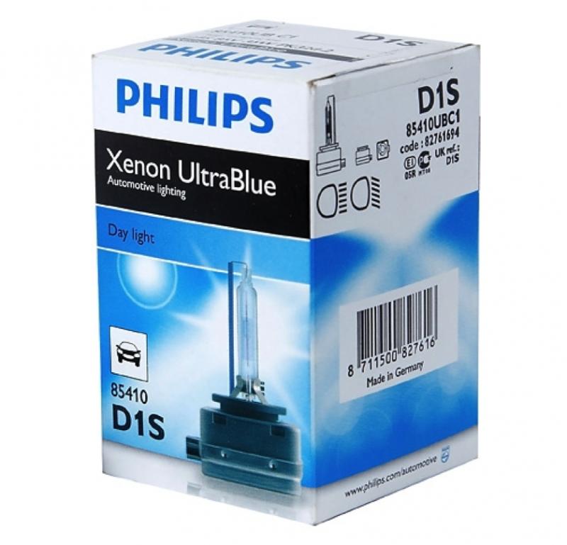 Лампа ксеноновая Philips Ultra Blue D1S 85410UB c1 (6000K)