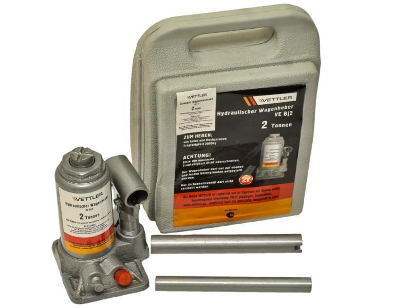 Домкрат гидравлический бутылочный VETTLER (2т)