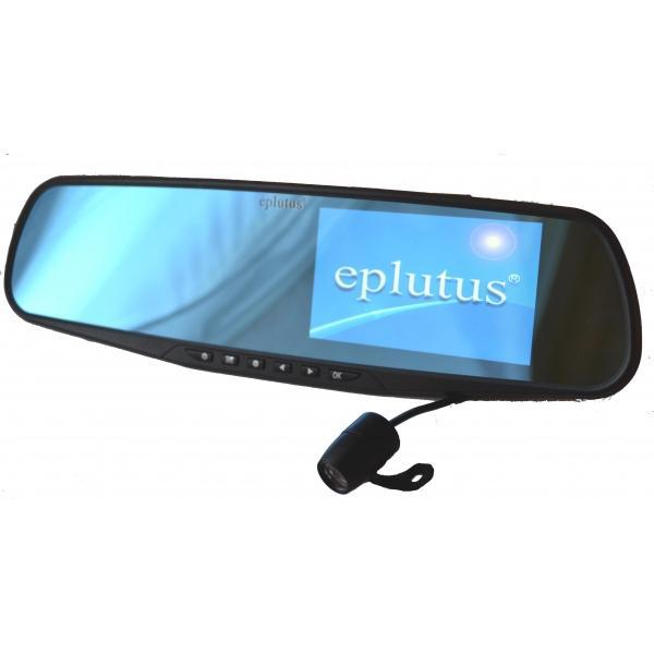 Автомобильный видеорегистратор-зеркало Eplutus D02 с камерой заднего вида Full HD