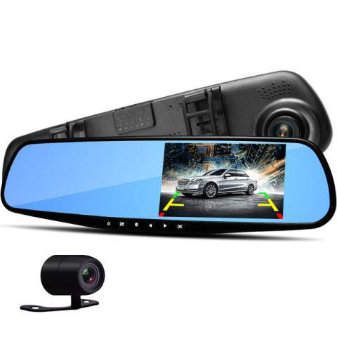 Видеорегистратор в зеркале заднего вида GLK-208 - 2 камеры