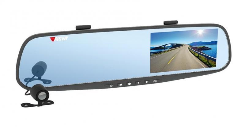 Видеорегистратор-зеркало Artway AV-610 задняя парковочная камера