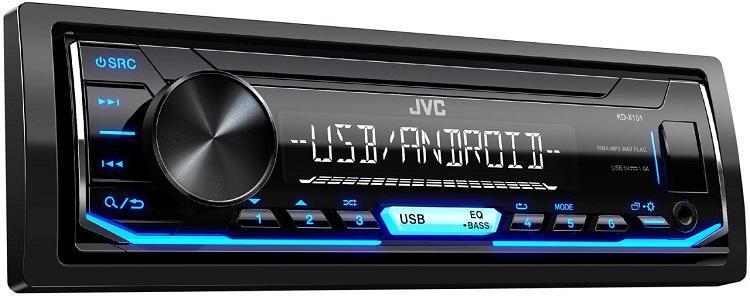 Автомагнитола JVC KD-X151 JVC 1 DIN USB/MP3 (без диска)