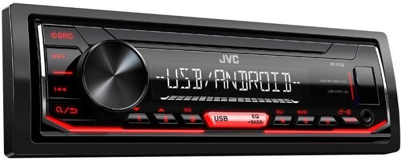 Автомагнитола JVC KD-X152 JVC 1 DIN USB/MP3 (без диска)