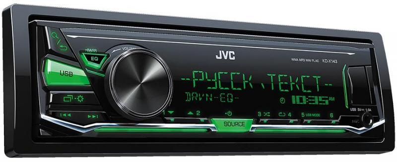 Автомагнитола JVC KD-X153 JVC 1 DIN USB/MP3 (без диска)