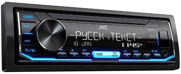 Автомагнитола JVC KD-X155 JVC 1 DIN USB/MP3 (без диска)