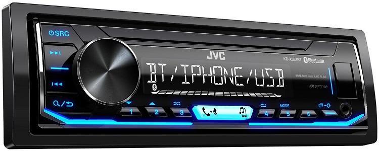 Автомагнитола JVC KD-X351BT 1 DIN USB/MP3 (без диска)