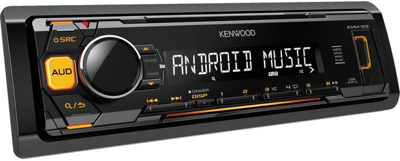 Автомагнитола Kenwood KMM-103AY  1 DIN USB/MP3 (без диска)