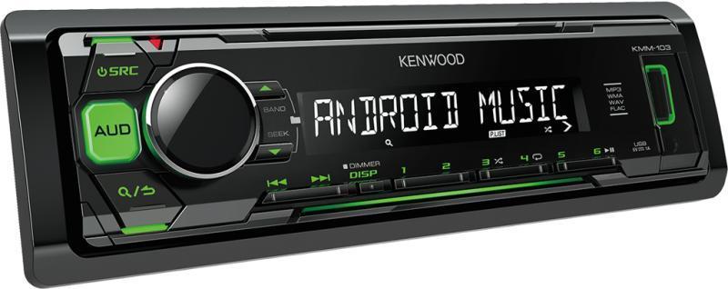 Автомагнитола Kenwood KMM-103GY 1 DIN USB/MP3 (без диска)