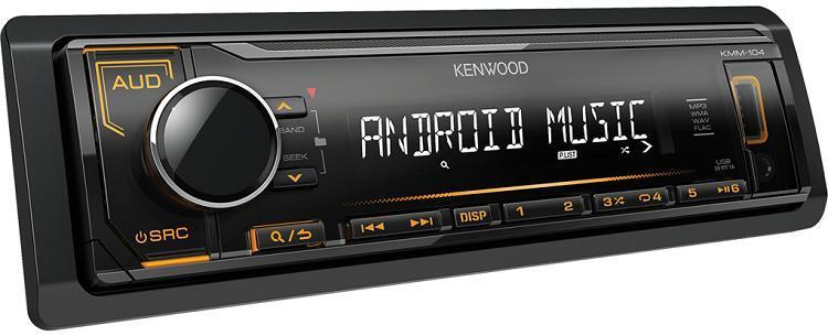 Автомагнитола Kenwood KMM-104AY  1 DIN USB/MP3 (без диска)
