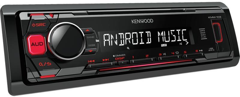 Автомагнитола  Kenwood KMM-104RY 1 DIN USB/MP3 (без диска)