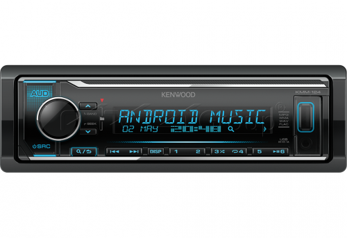 Автомагнитола Kenwood KMM-124 1 DIN USB/MP3 (без диска)