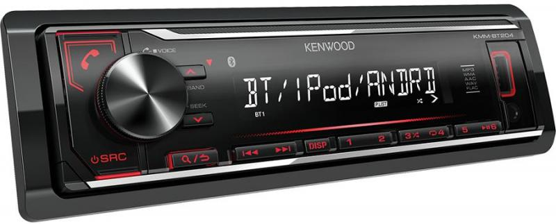 Автомагнитола Kenwood KMM-BT204 1 DIN USB/MP3 (без диска)