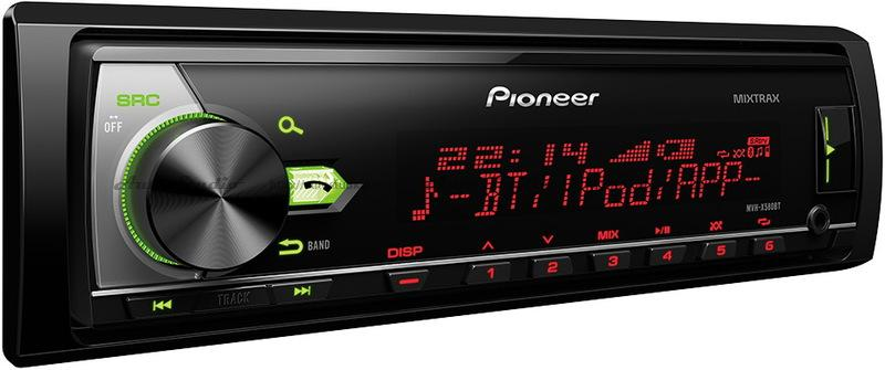 Автомагнитола Pionеer MVH-X 580 ВТ 1 DIN USB/MP3 (без диска)