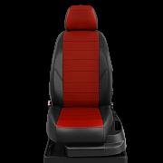 Авточехлы экокожа цвет красный-чёрный