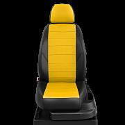 Авточехлы экокожа цвет жёлтый-чёрный