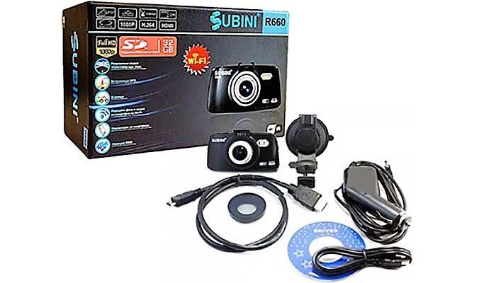 Видеорегистратор Subini DVR-R660 с WI FI